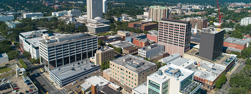 An image of the downtown skyline of Tallahassee