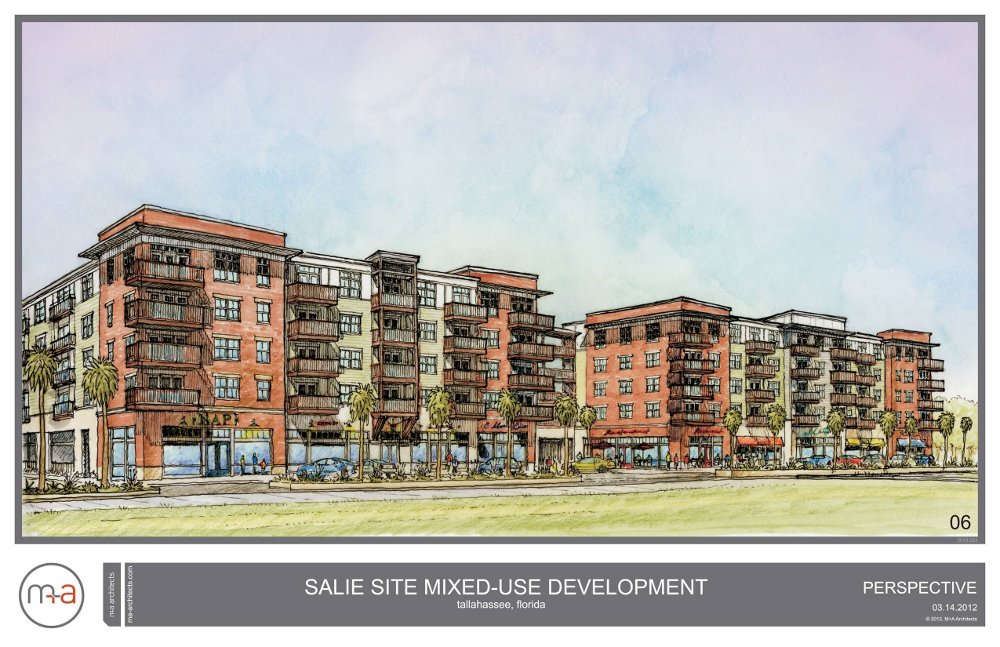 Proposed multi-use development on what is now known as the 'Salie' property