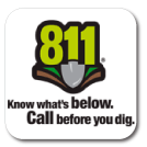 811, Know what's below, Call before you dig