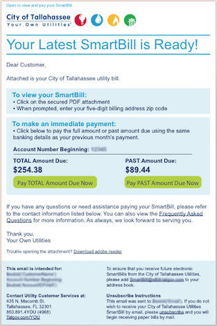 SmartBill - Immediate Payment Option   Your Own Utilities