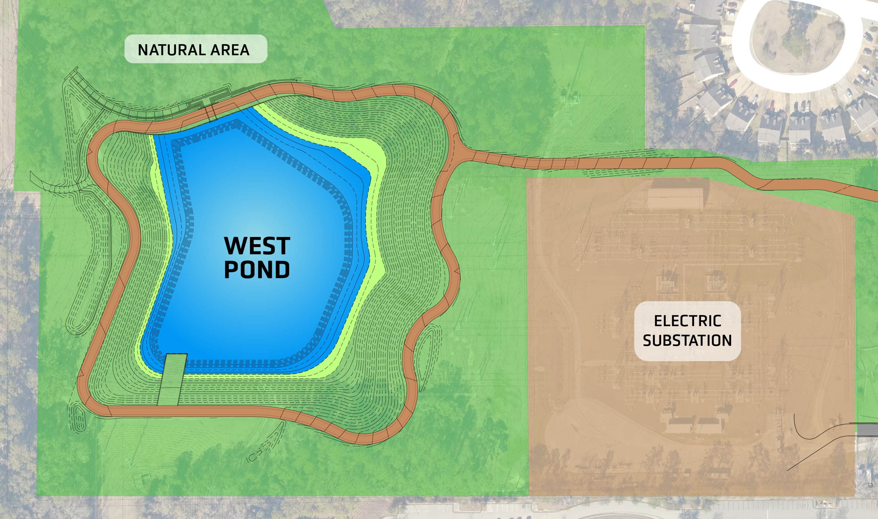 diagram of West Stormwater Facility