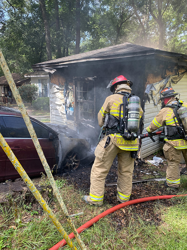 Firefighters from TFD put out car blaze