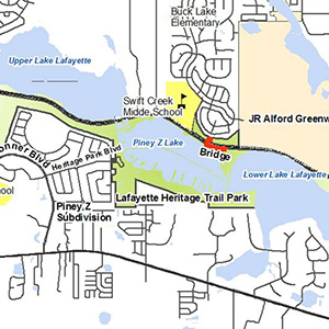 Map of bridge location