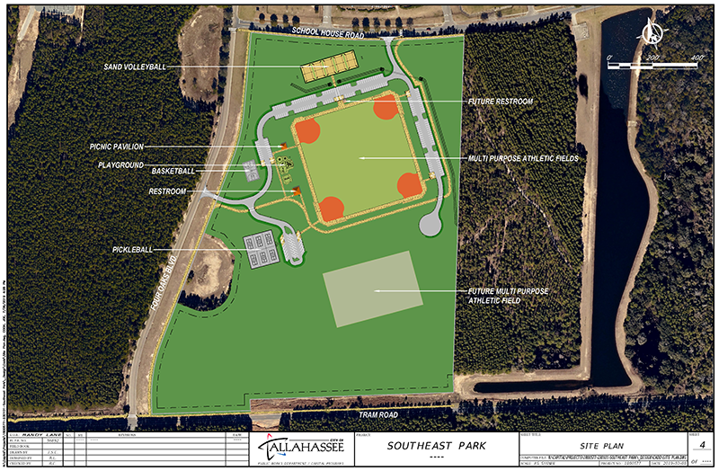 Site plan for the Southeast Park