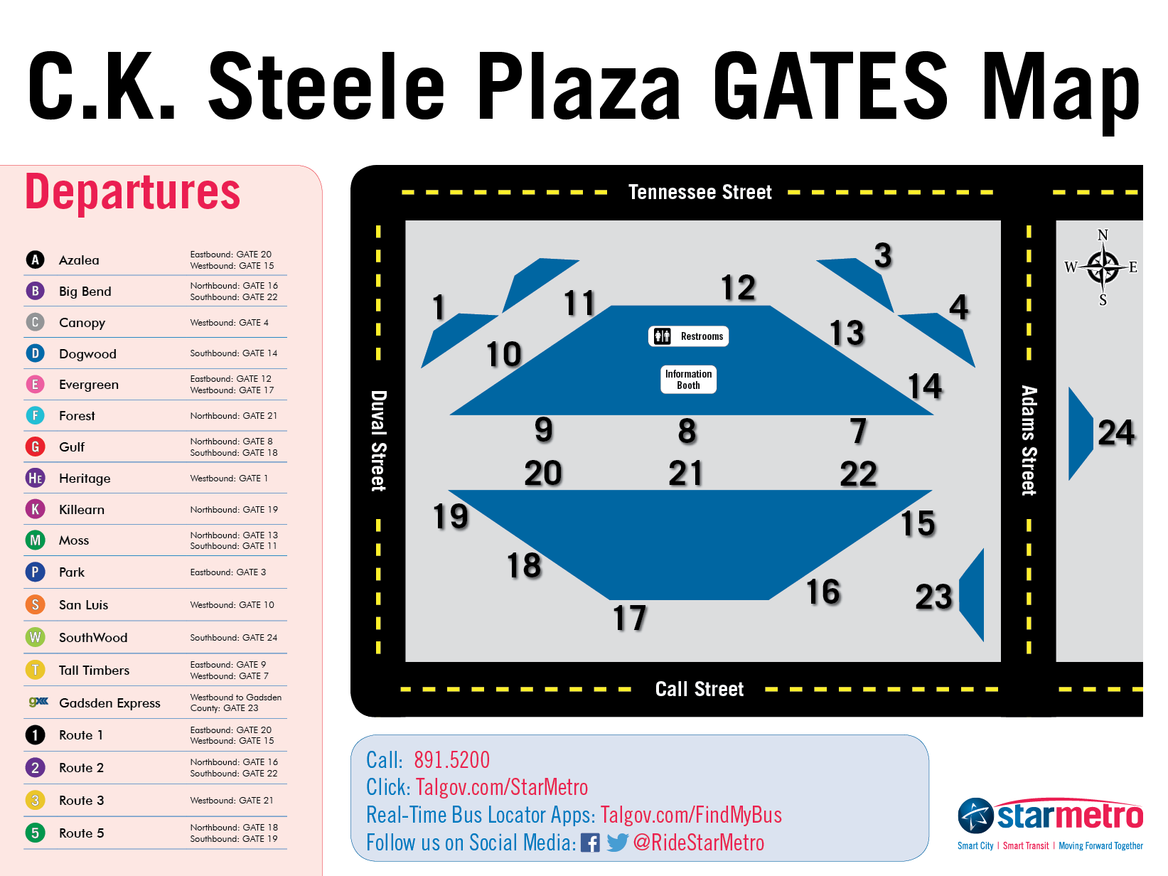 C.K. Steele Plaza Gate Map