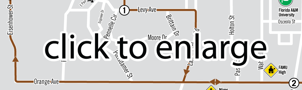 Live Oak Saturdays Route Map