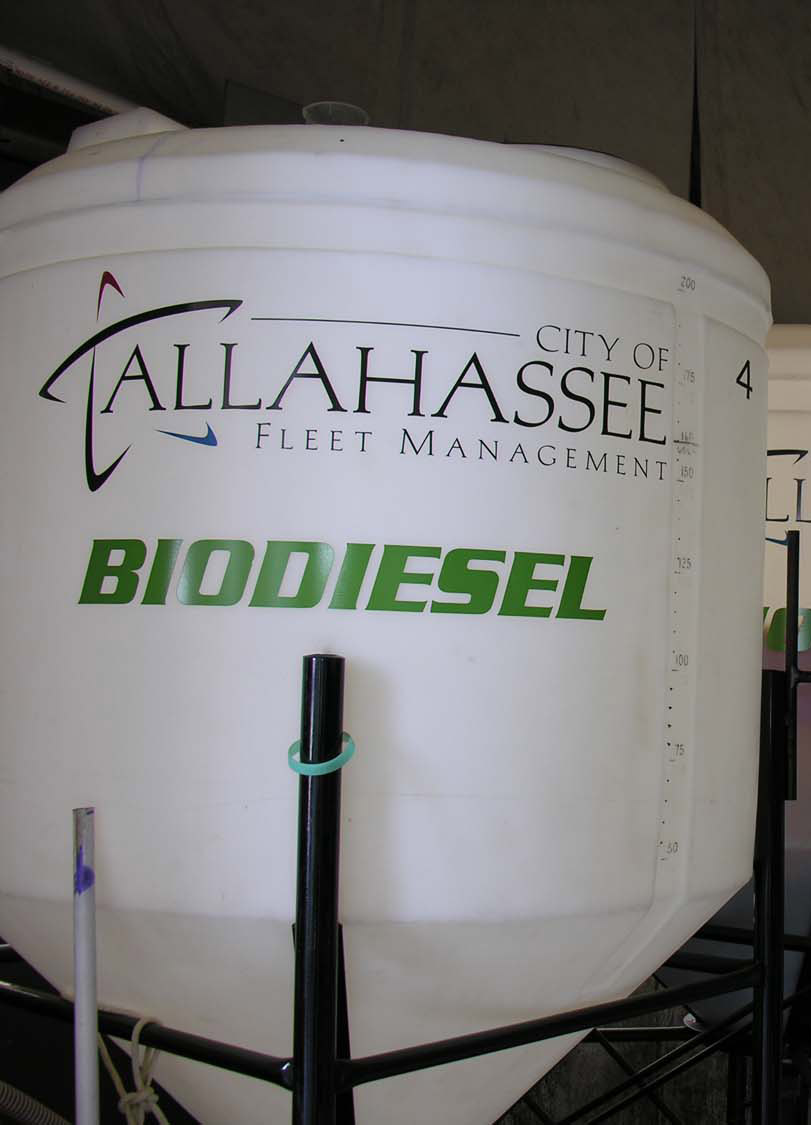 Tanks of biodiesel fuel
